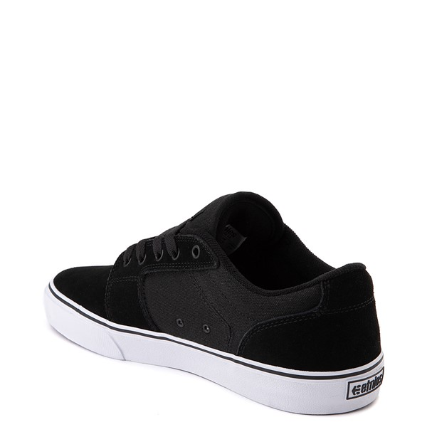 alternate view Mens etnies Barge LS Skate Shoe - Black / WhiteALT1