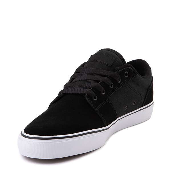 alternate view Mens etnies Barge LS Skate Shoe - Black / WhiteALT2