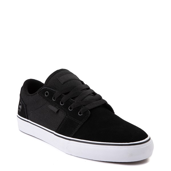 alternate view Mens etnies Barge LS Skate Shoe - Black / WhiteALT5
