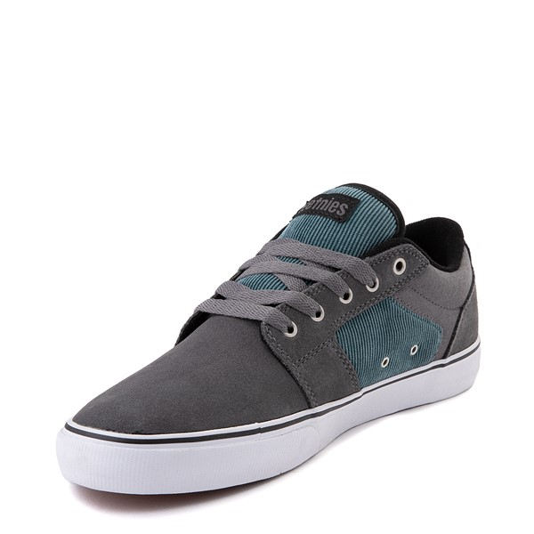 alternate view Mens etnies Barge LS Skate Shoe - Gray / BlueALT2