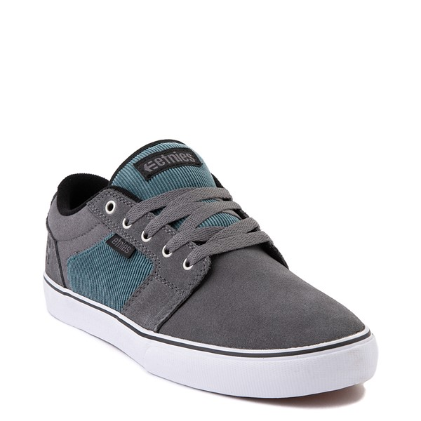 alternate view Mens etnies Barge LS Skate Shoe - Gray / BlueALT5
