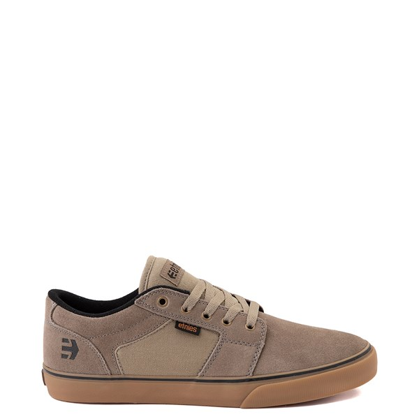Main view of Mens etnies Barge LS Skate Shoe - Olive / Gum