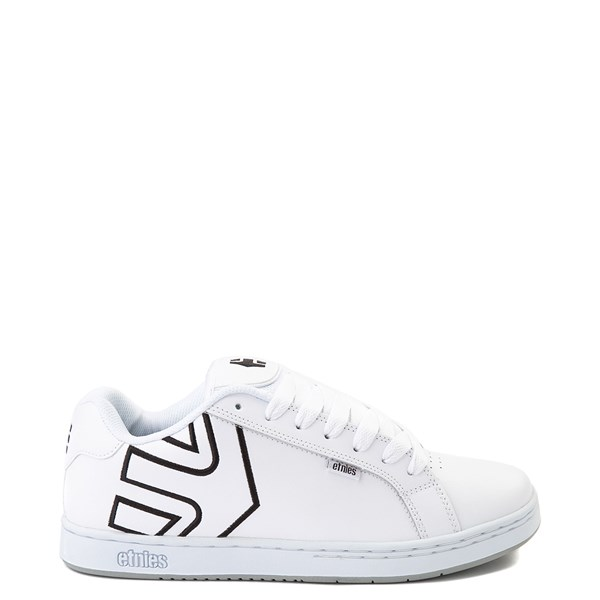 Main view of Mens etnies Fader Skate Shoe - White / Silver