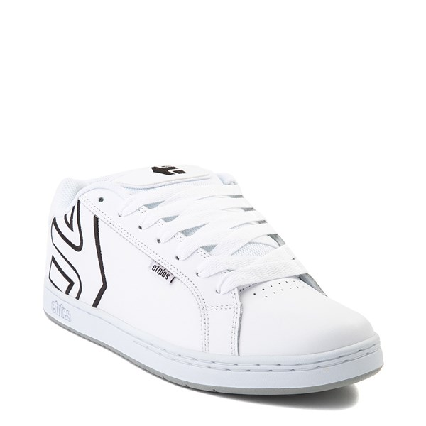alternate view Mens etnies Fader Skate Shoe - White / SilverALT1