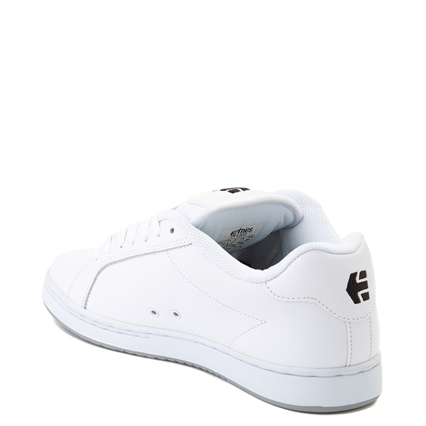 alternate view Mens etnies Fader Skate Shoe - White / SilverALT2