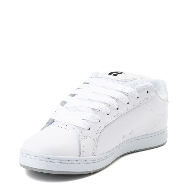 alternate view Mens etnies Fader Skate Shoe - White / SilverALT3