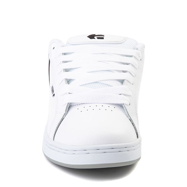 alternate view Mens etnies Fader Skate Shoe - White / SilverALT4