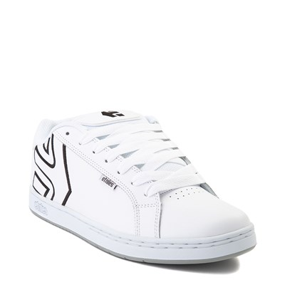 Alternate view of Mens etnies Fader Skate Shoe - White / Silver