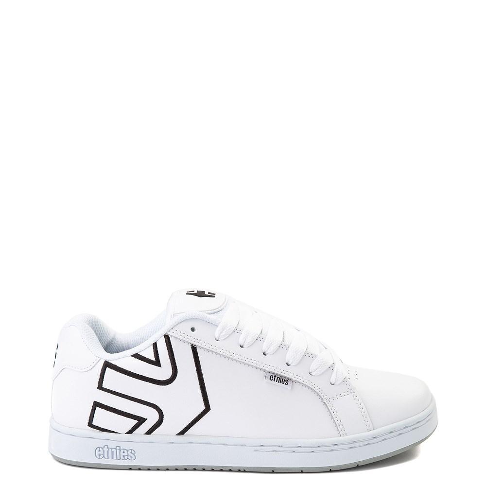 Mens etnies Fader Skate Shoe - White / Silver