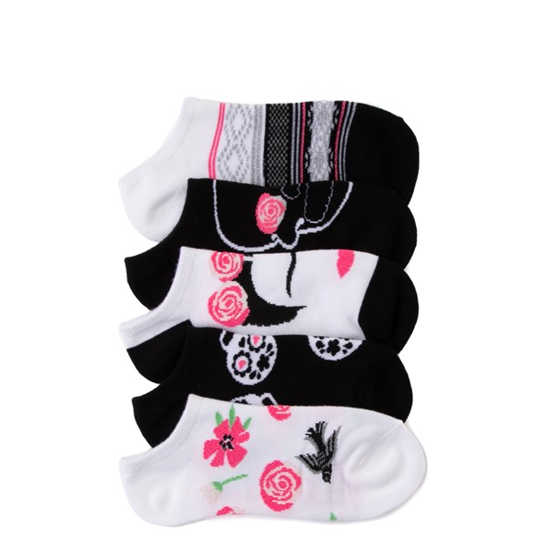 Womens Rose Skull Liners 5 Pack - Multi