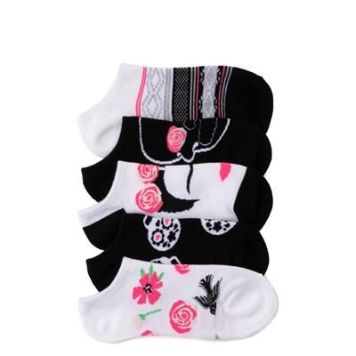 Main view of Womens Rose Skull Liners 5 Pack - Multi