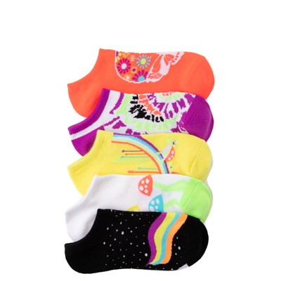 Main view of Womens Neon Critters Low Cut Socks 5 Pack - Multi