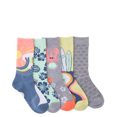 Main view of Womens Sea Critters Crew Socks 5 Pack - Multi