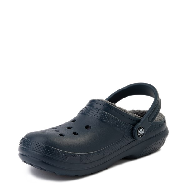 alternate view Crocs Classic Fuzz-Lined Clog - Navy / GrayALT3