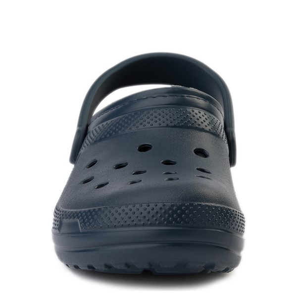 alternate view Crocs Classic Fuzz-Lined Clog - Navy / GrayALT4