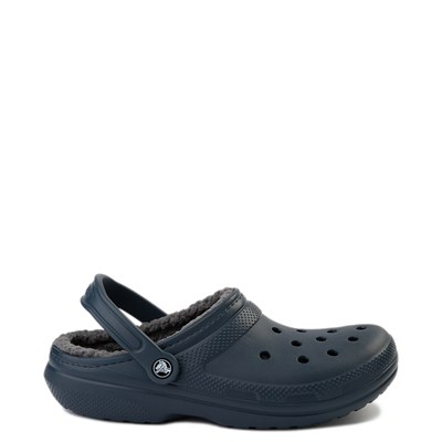 Main view of Crocs Classic Fuzz-Lined Clog - Navy / Gray
