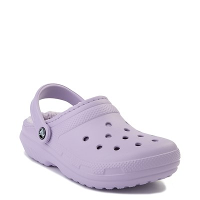 Alternate view of Crocs Classic Fuzz-Lined Clog - Lavender