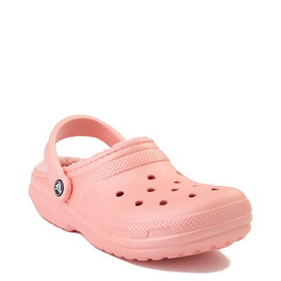 Alternate view of Crocs Classic Fuzz-Lined Clog - Melon