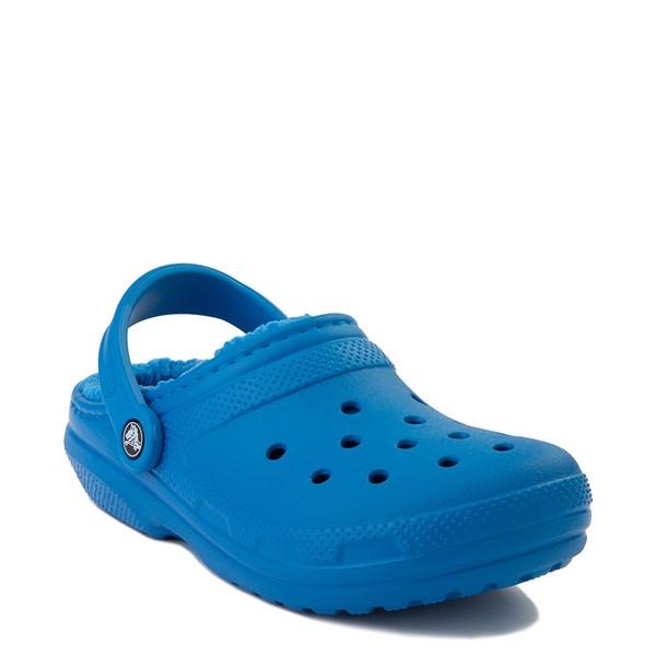 alternate view Crocs Classic Fuzz-Lined Clog - Bright CobaltALT1