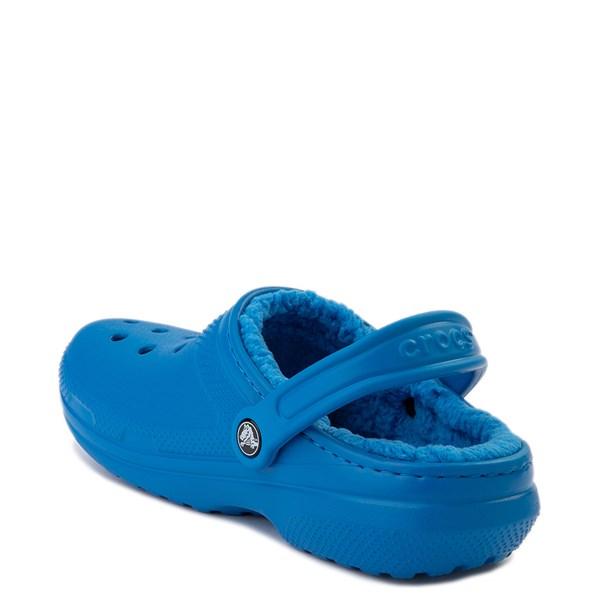 alternate view Crocs Classic Fuzz-Lined Clog - Bright CobaltALT2