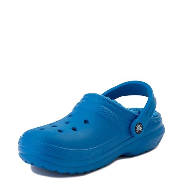 alternate view Crocs Classic Fuzz-Lined Clog - Bright CobaltALT3