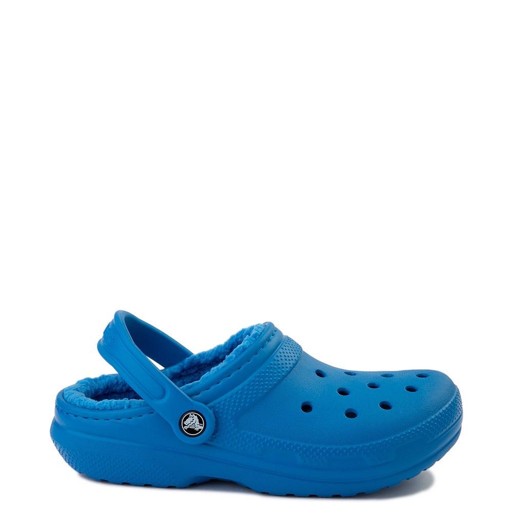 Crocs Classic Fuzz-Lined Clog - Bright Cobalt