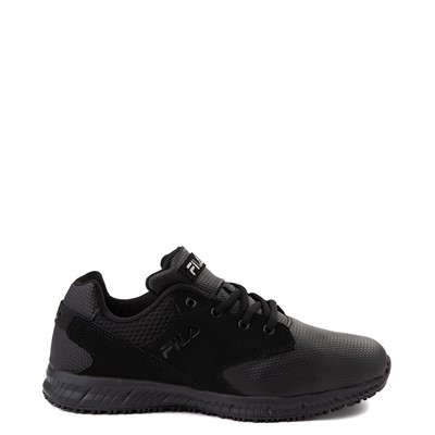 Main view of Mens Fila Memory Layers SR Work Shoe - Black