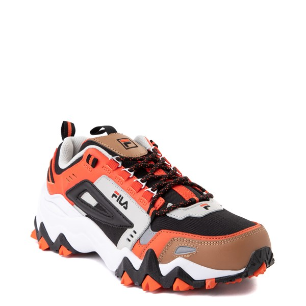 alternate view Mens Fila Oakmont TR Athletic Shoe - White / Orange / BlackALT1