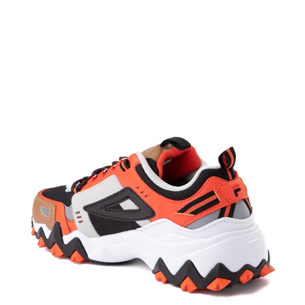 alternate view Mens Fila Oakmont TR Athletic Shoe - White / Orange / BlackALT2