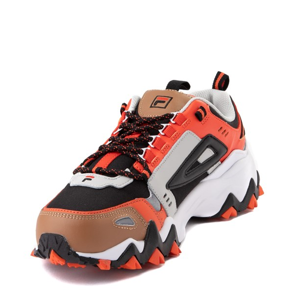 alternate view Mens Fila Oakmont TR Athletic Shoe - White / Orange / BlackALT3