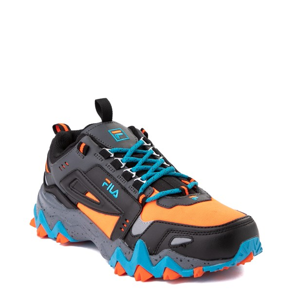 alternate view Mens Fila Oakmont TR Athletic Shoe - Black / Orange / TurquoiseALT1