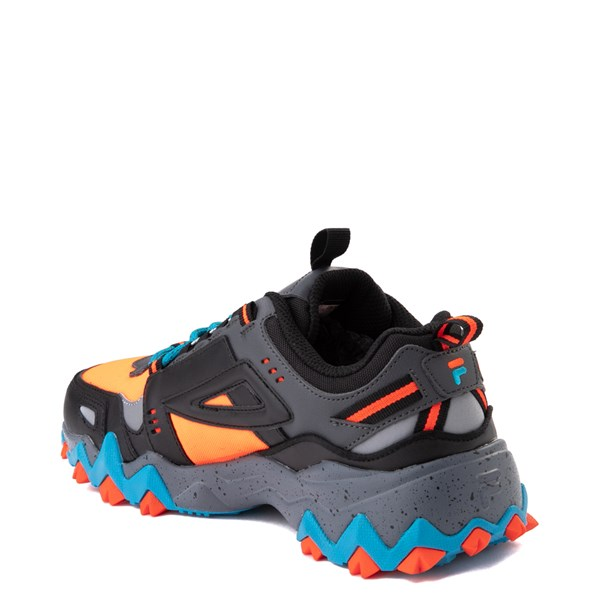 alternate view Mens Fila Oakmont TR Athletic Shoe - Black / Orange / TurquoiseALT2
