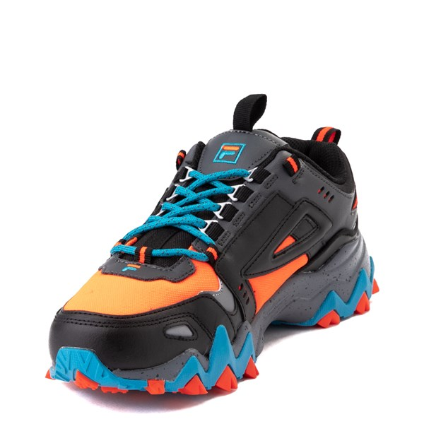 alternate view Mens Fila Oakmont TR Athletic Shoe - Black / Orange / TurquoiseALT3