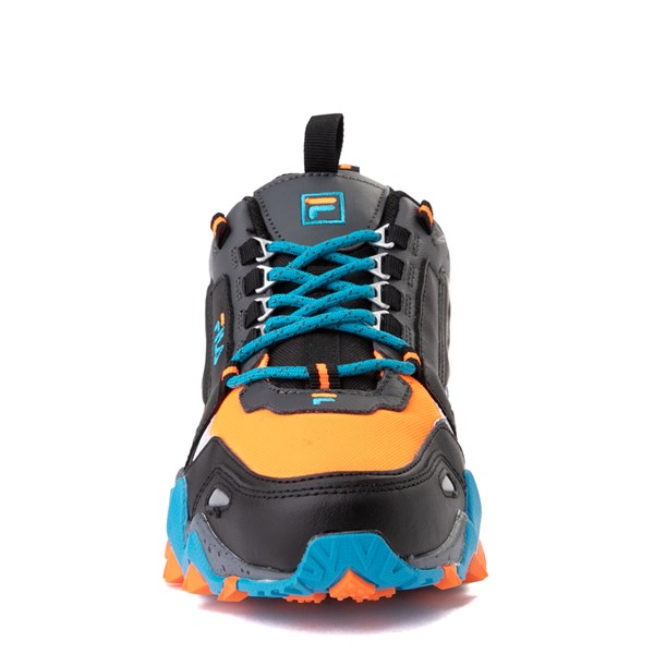 alternate view Mens Fila Oakmont TR Athletic Shoe - Black / Orange / TurquoiseALT4