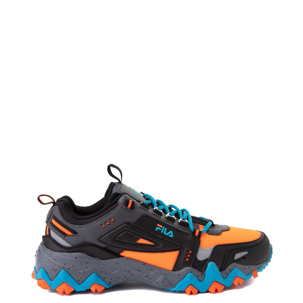 Mens Fila Oakmont TR Athletic Shoe - Black / Orange / Turquoise
