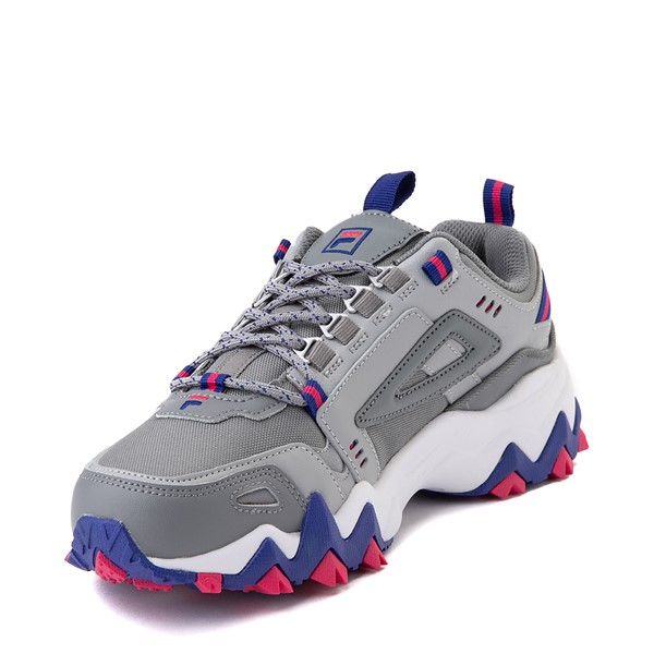 alternate view Womens Fila Oakmont TR Athletic Shoe - Gray / Blue / PinkALT2