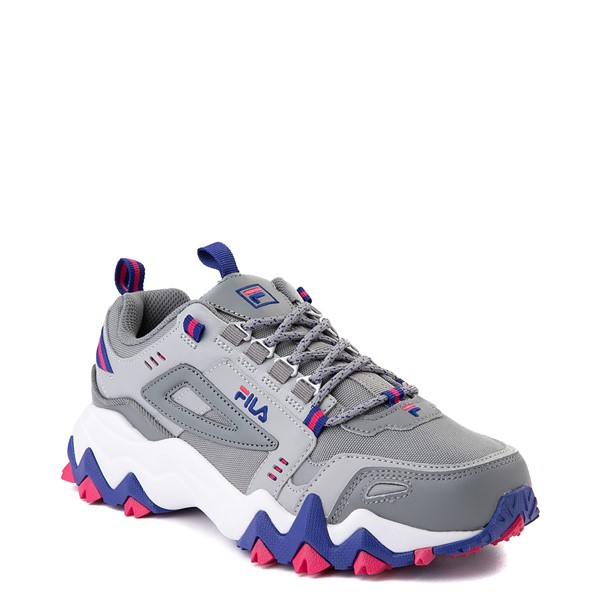 alternate view Womens Fila Oakmont TR Athletic Shoe - Gray / Blue / PinkALT5