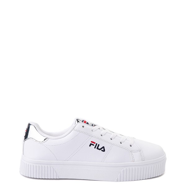 Womens Fila Panache Platform Athletic Shoe - White / Silver