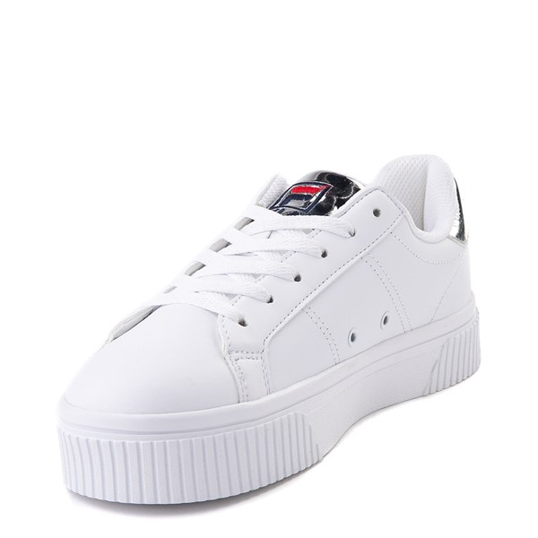 alternate view Womens Fila Panache Platform Athletic Shoe - White / SilverALT2