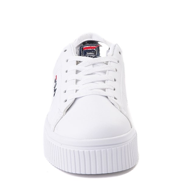 alternate view Womens Fila Panache Platform Athletic Shoe - White / SilverALT4