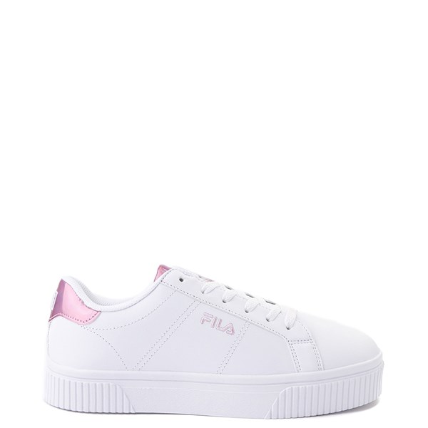 Main view of Womens Fila Panache Platform Athletic Shoe - White / Pink