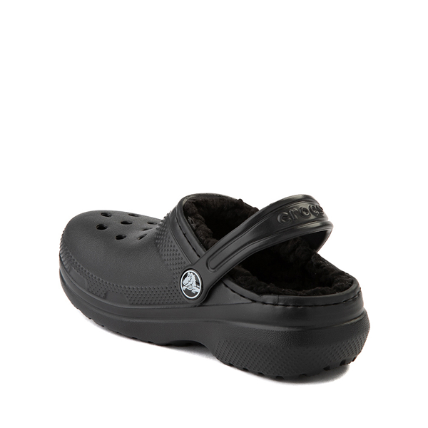 alternate view Crocs Classic Fuzz-Lined Clog - Little Kid / Big Kid - BlackALT1