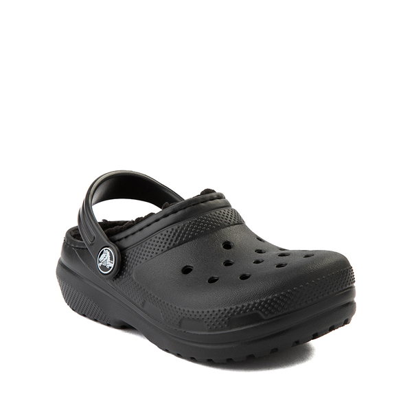 alternate view Crocs Classic Fuzz-Lined Clog - Little Kid / Big Kid - BlackALT5