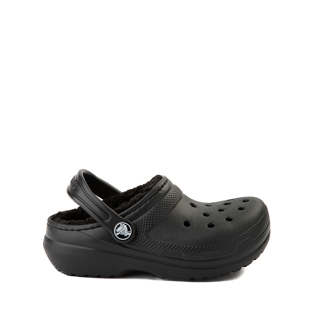 Crocs Classic Fuzz-Lined Clog - Little Kid / Big Kid - Black