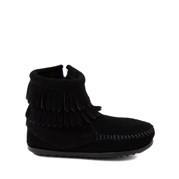 Minnetonka Double Fringe Bootie - Toddler / Little Kid - Black