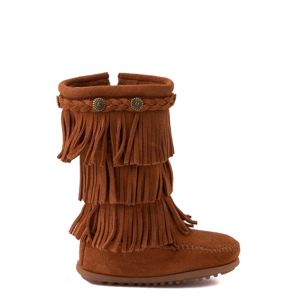 Minnetonka 3-Layer Fringe Boot - Toddler / Little Kid - Brown