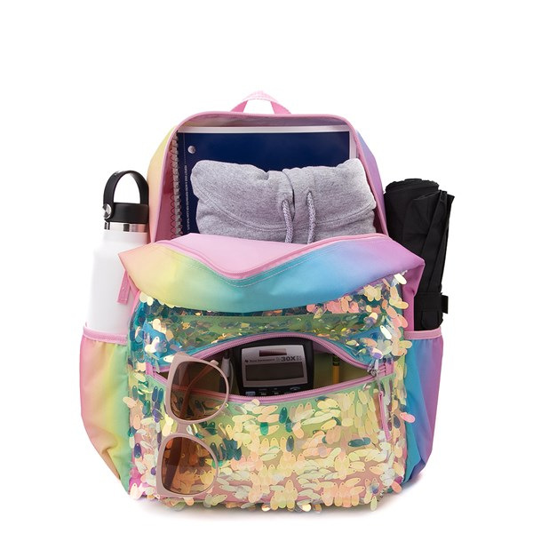 alternate view Iridescent Gradient Sequin Backpack - RainbowALT1