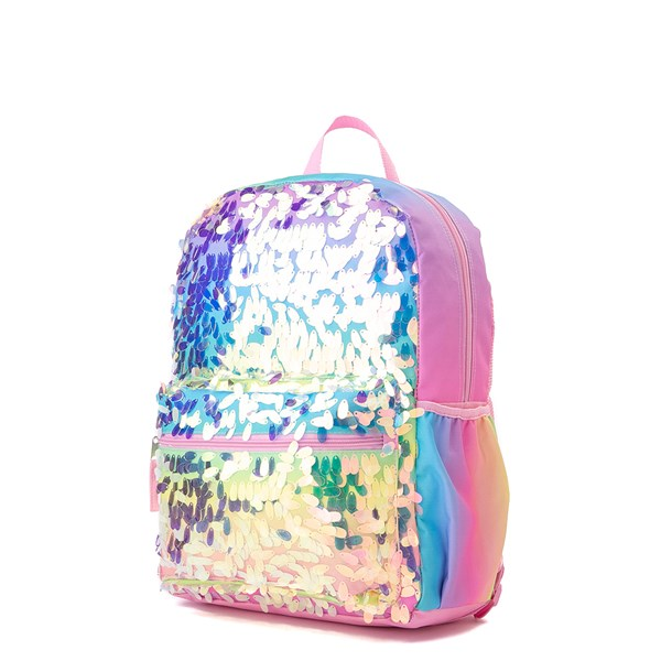 alternate view Iridescent Gradient Sequin Backpack - RainbowALT4