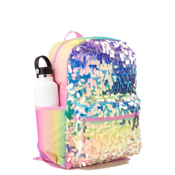 alternate view Iridescent Gradient Sequin Backpack - RainbowALT4B