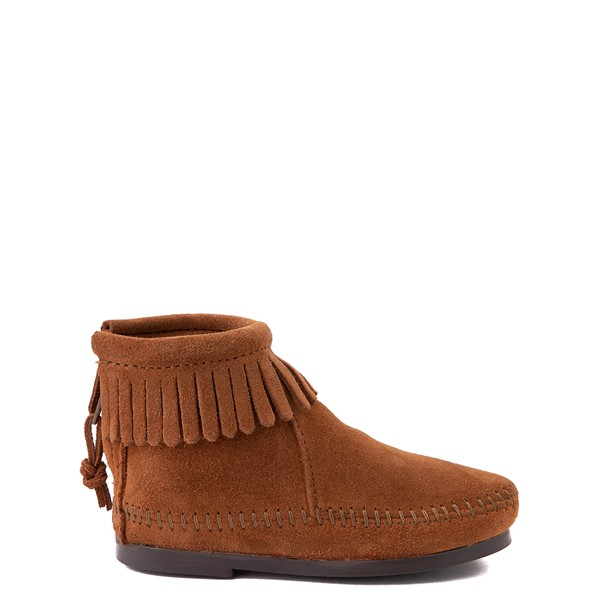 Minnetonka Back Zip Boot - Little Kid / Big Kid - Brown